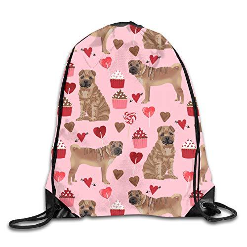 GMGMJ Sharpei - Mochila deportiva con cordón para perro, para yoga, senderismo, viajes al aire libre