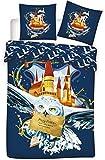Juego de funda nórdica de 140 x 200 cm, funda de almohada de 63 x 63 cm y 1 peluche de Harry Potter de 20 cm