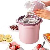 Máquina de Helados de Helado, Color de Helado, natillas de Yogurt Sorbet Gelato Máquina de Gelato Hogar Hogar Cocina Tienda HMP