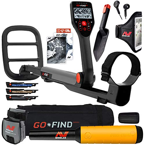 Minelab GO FIND 66 Metal Detector with PRO FIND 20, Black Carry Bag, Finds Pouch