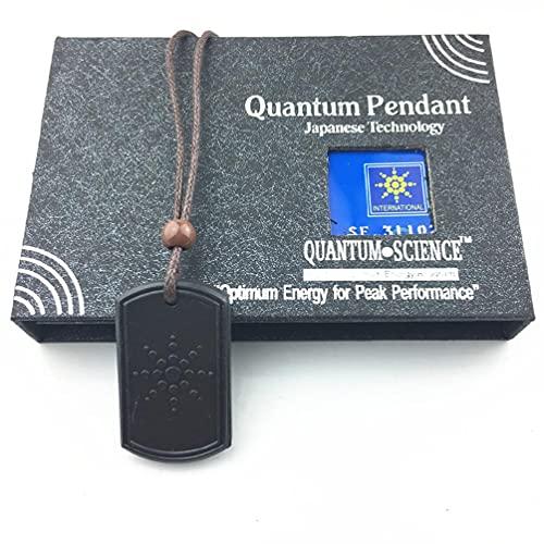 OWENRYIN Naturals - Colgante de cadena con colgante, joya moderna y se utiliza para chakras y equilibrio energético, colgante de energía esclarecedor Quantum
