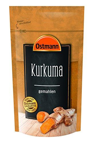 Ostmann Kurkuma gemahlen 250 g, feines Kurkuma-Pulver, Gewürz für indische Gerichte & Curry, getrocknet & gemahlen für Goldene Milch