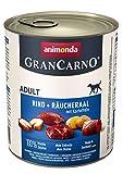 Animonda Gran Carno - Comida húmeda para Perros Adultos, Vacuno + Incienso con Patatas, 6 x 800 g