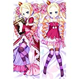 Xmas Gift Anime Re Zero Beatrice Cosplay Double Sided Body Pillow Cover Case Pillowcases Cushion with Hidden Zipper Closure for Sofa Bench Bed Home Decor 20'x60'