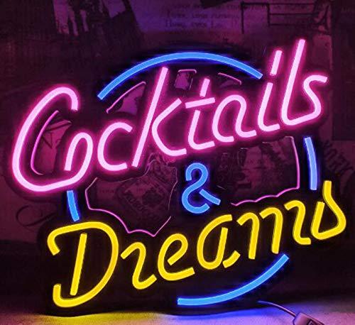 """DKZ Neue Cocktails Palme Echte Glas Neonlichtschild Home Bier Bar Pub Erholungsraum Spielzimmer Windows Garage Wandladen Zeichen (13""""X16)"""