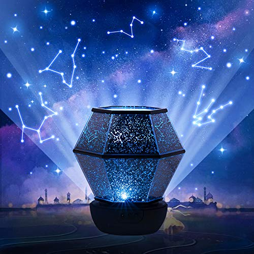 Star Night Light Projector for Kids,360°Rotating,USB Cable Star peojector lamp for Decorating Birthdays, Christmas, and Party, Best Gift for a Baby's Bedroom