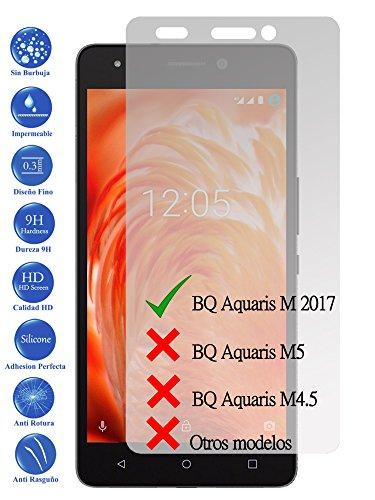 Todotumovil Protector de Pantalla BQ Aquaris M 2017 5.5 de Cristal Templado Vidrio 9H para movil