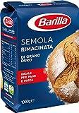 Barilla Farina Semola Rimacinata di Grano Duro, Per Pane e Pasta Fresca, 1 Kg