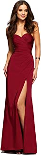 Faviana Womens Faille Satin Strapless w/Side Draping 7891