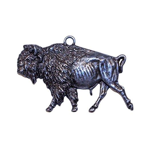 Eric Thorsen Gorgeous Bison Buffalo Christmas Ornament Medallion Hanging Charm Key Chain Montana USA