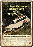 Jeep Wagoneer Kaiser Wheel Drive Blechschild Retro Blech