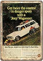 Jeep Wagoneer Kaiser Wheel Drive ティンサイン ポスター ン サイン プレート ブリキ看板 ホーム バーために