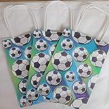 24 bolsas de regalo para cumpleaños infantiles, diseño de fútbol
