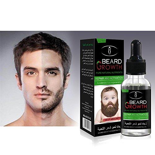 Onewell Bartwachstumsöl, Bartöl Bartpflegeprodukte Bartwachstums-Pflege für schnelles Wachstum und Verdickung des Bartes, 30 ml Bartwachstums-Aktivatorserum