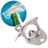 Wandflaschenöffner 2 Stück,Bier flaschenöffner,Wand Bieröffner, Wand Befestigt Flaschenöffner mit Befestigungmaterial-Edelstahl für Soda Glas Bier Flasche