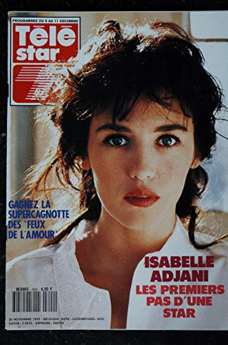 TELE STAR 844 30 novembre 1992 Isabelle Adjani Cover + 4 p. - Patrick Duffy - Tracey Bregman - Charles Bronson
