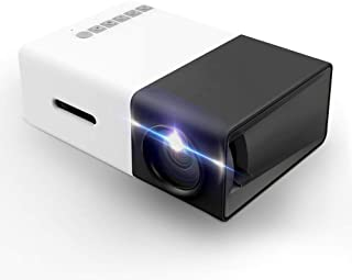 Projector, Mini Portable LED Projector, Smartphone Pocket Projector with AV USB SD HDMI for Video/Movie/Game/Home Theater ...
