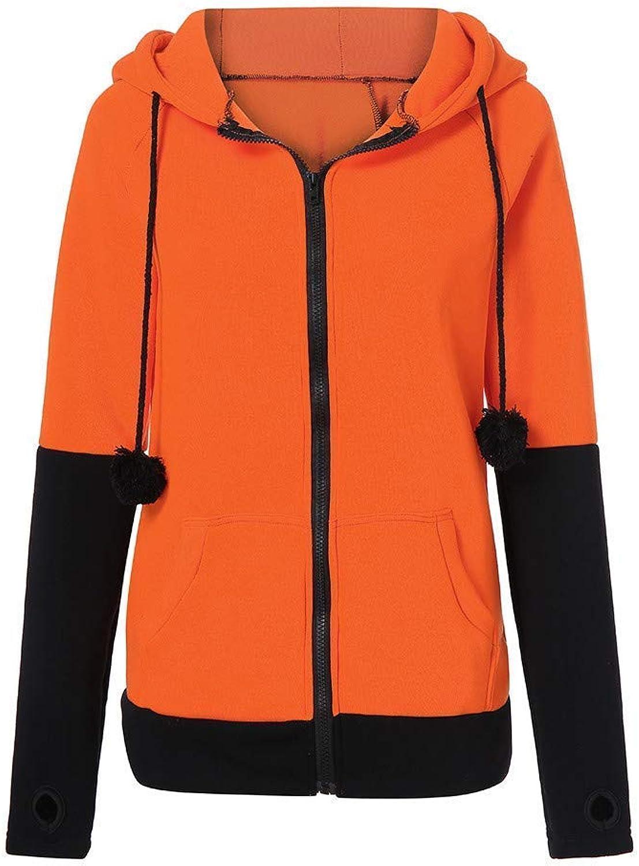 Ladies Coat Fox Ears Hooded Sweatshirts Women Long Sleeve Fashion Patchwork Coat Autumn Hoodie Jacket Fashion Hoodie Outwear