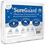 Twin (6-8 in. Deep) SureGuard Mattress Encasement - 100% Waterproof, Bed Bug Proof, Hypoallergenic - Premium Zippered Six-Sided Cover