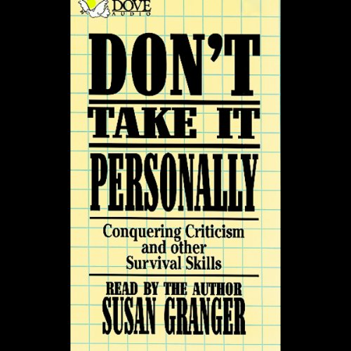Don't Take It Personally audiobook cover art