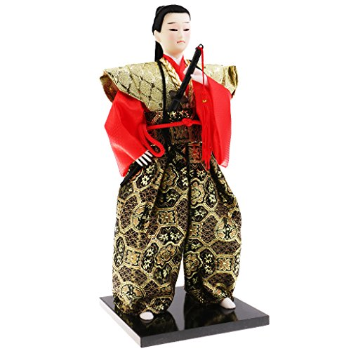 Homyl Muñeco Samurai Figura Japonés Ornamento Decorativo 30 cm de Alto - # 1