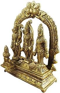Giant Roots Ram Darbar Statue/Idol - Lord Rama Laxman and Sita Religious Indian Art Statue/Idol (lxbxh - 3.0 X 1.0 X 3.2 Inches)