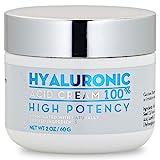 100% Hyaluronic Acid Cream Face w/Jojoba Oil & Apricot Oil | Professional Grade Intense Hydration Keeps Skin Looking Plump & Feeling Moisturized | Improves Appearance of Skin Color & Tone