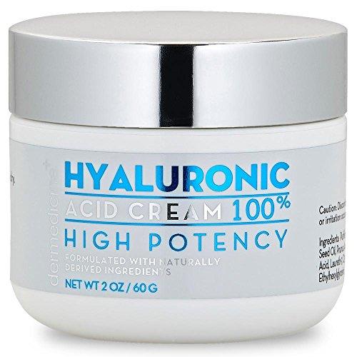 100% Hyaluronic Acid Cream Face w/Jojoba Oil & Apricot Oil   Professional Grade Intense Hydration Keeps Skin Looking Plump & Feeling Moisturized   Improves Appearance of Skin Color & Tone