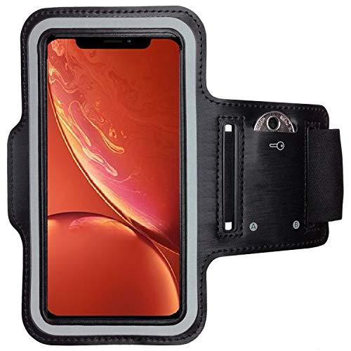 CoverKingz Sportarmband für Apple iPhone XR - Armtasche mit Schlüsselfach iPhone XR - Sport Laufarmband Handy Armband Schwarz