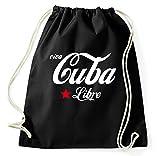 Styletex23 Viva Cuba Libre Turnbeutel Sportbeutel, schwarz