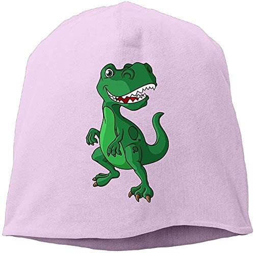 NA Mode Effen Kleur Cartoon Dinosaur Coltrui Cap Voor Unisex Roze