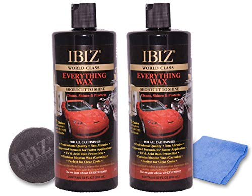 IBIZ World Class Car Wax (64oz). Premium, Easy-to-Use Professional Grade Carnuba Car Wax for All Makes & Models.