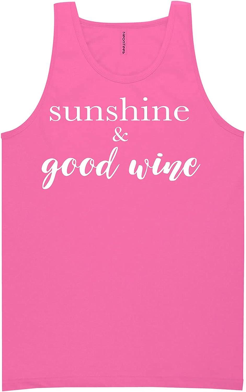zerogravitee Sunshine & Good Wine Neon Tank Top