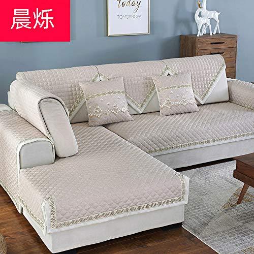 BASA Tuinmeubelhoes, vierzits slaapbank, eenvoudig en stofdicht meubilair 110*210cm Beige