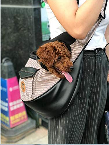 XNGDD Kleiner Hund Katze Tragetuch Träger Hände frei Haustier Welpe Wendbare Haustier Papoose Tasche für Welpen Kleine Hunde und Katzen für Reisen im Freien M Kaffee
