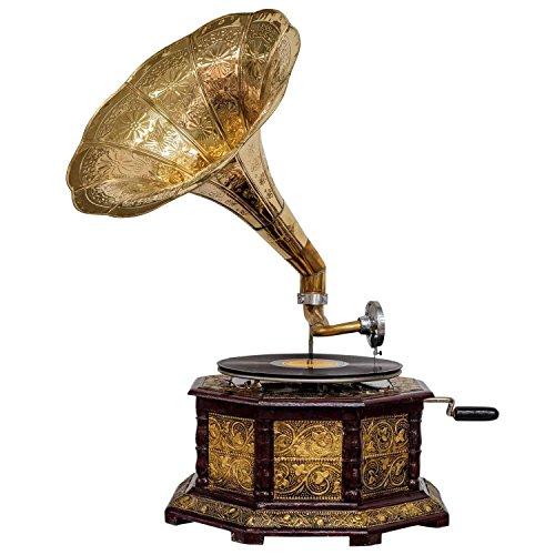 Nostalgia gramófono gramófono Embudo de Estilo Antiguo