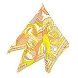 EMILIO PUCCI(エミリオプッチ)スカーフ レディース プッチ柄シルクスカーフ(サイズ90×90cm)eep19w121 JR510 1 イエロー