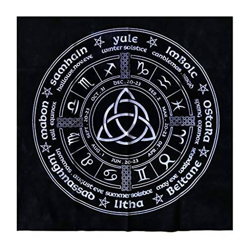 DENGHENG Sternbild Tarot-Tischdecke Hexe Wahrsagung Altar Tuch Samt Matte Brett Spiel Astrologie Orakel Kartenblock