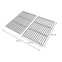 BBQ-Toro Set of 2 41.5 cm x 27.5 cm Enamelled Cast Iron BBQ Grill Grate for Tepro Toronto, Black Oak, Butternut and… 13