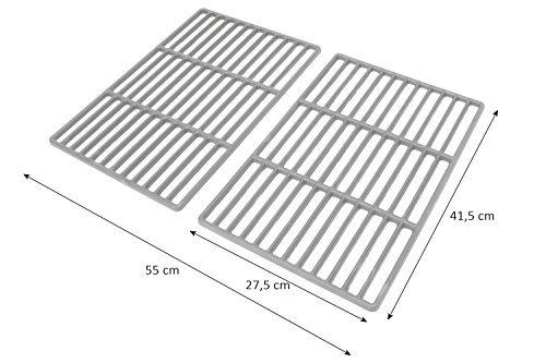 BBQ-Toro Set of 2 41.5 cm x 27.5 cm Enamelled Cast Iron BBQ Grill Grate for Tepro Toronto, Black Oak, Butternut and… 1