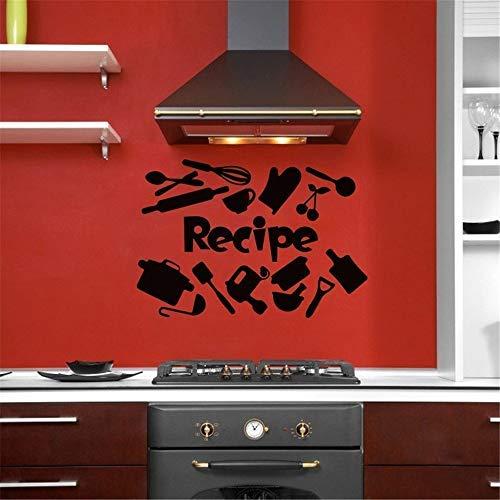 Vivityobert Pegatinas de pared de Pecipe para cocina, restaurante, hogar