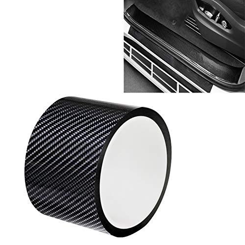 GANK TXV Fibra di Carbonio ATYC Universal Car Door anticollisione Strip Protection Protegge assetta Adesivi Nastro, Dimensioni: 7cm x 10m