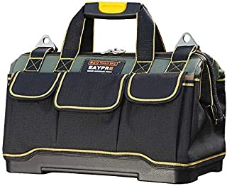 Tool Bag 16inch with PVC Base Tool Storage Bag Multi-Functional Large Capacity Waterproof Tool Tote Bag for Electricians C...