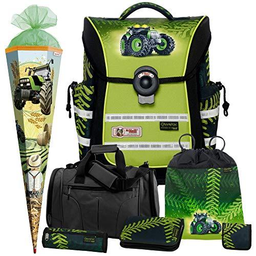 Greentrac McNeill ERGO Light PURE Schulranzen-Set 7tlg. mit Sporttasche, Brustbeutel und Schultüte
