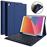 iPad 9th Gen 2021 Case with Keyboard 10.2 inch, iPad 8th Gen 2020/iPad 7th Gen 2019/iPad Air 3/iPad Pro 10.5 Keyboard Case, Detachable Wireless Bluetooth Keyboard with Pencil Holder for iPad 2021 9th