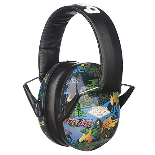 Snug Safe n Sound Kinder Gehörschutz / Gehörschutz - Verstellbarer Kopfbügel Ohrenschützer für Kinder und Erwachsene, SNS, Monster Trucks