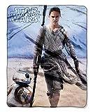 Disney Star Wars Rey & BB-8 Silky Soft Plush Throw Blanket 40' x 50' 102 x 127 cm