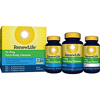 Renew Life Adult Cleanse - Total Body Cleanse for Men & Women - 2-Part 14-Day Program - Dairy & Soy Free - 140 Vegetarian Capsules