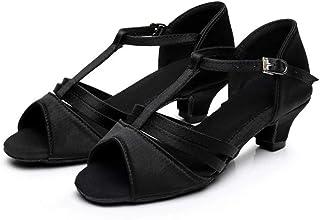 Classic 5 Belt Knots Childrens Latin Dance Shoes Dance White Shoes Color : A13, Size : 29