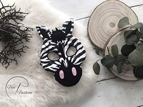 Karnevalset Zebra, Kinder Poncho, Kinder Karnevalmaske, Frei Fashion
